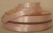"10mm (3/8"") PINK PICOT EDGE DOUBLE SIDED SATIN ribbon, 3.0 mtrs"